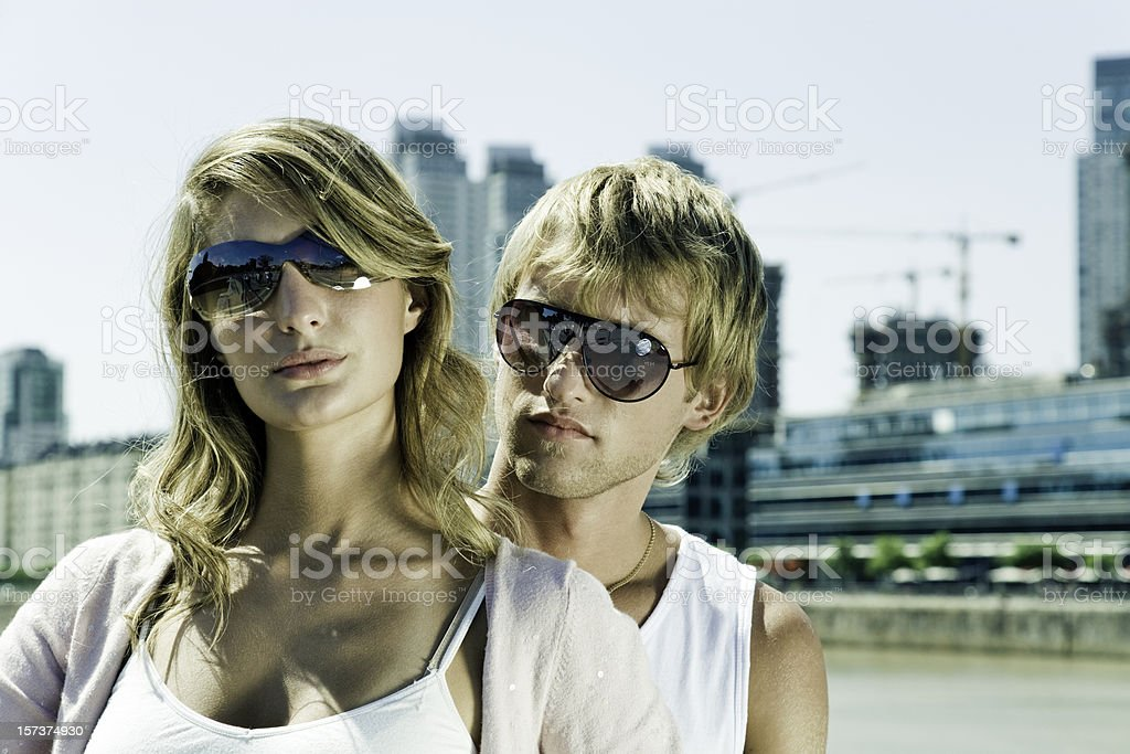 Young Urban Couple royalty-free stock photo