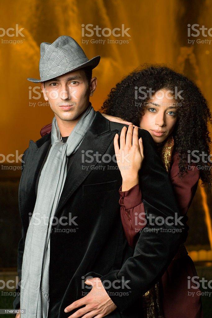 young urban fashion couple royalty-free stock photo