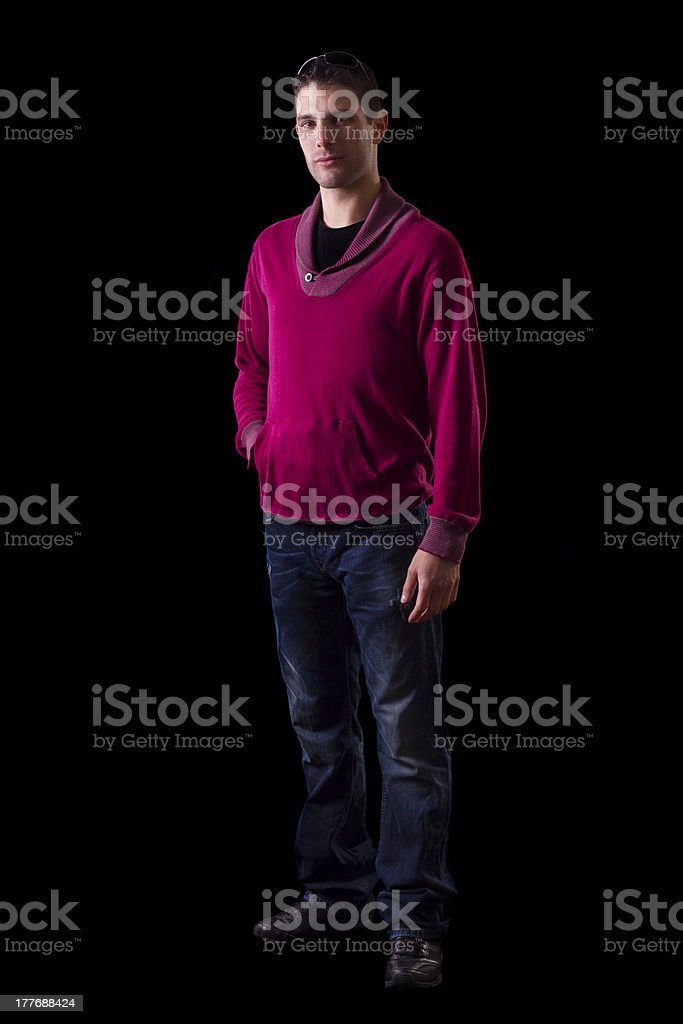 young urban man standing royalty-free stock photo