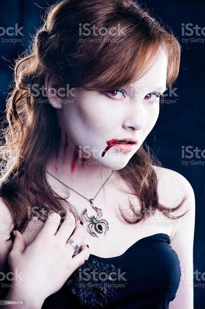 Young vampire stock photo