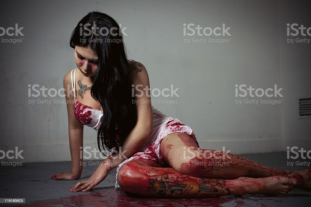 Young Victim royalty-free stock photo