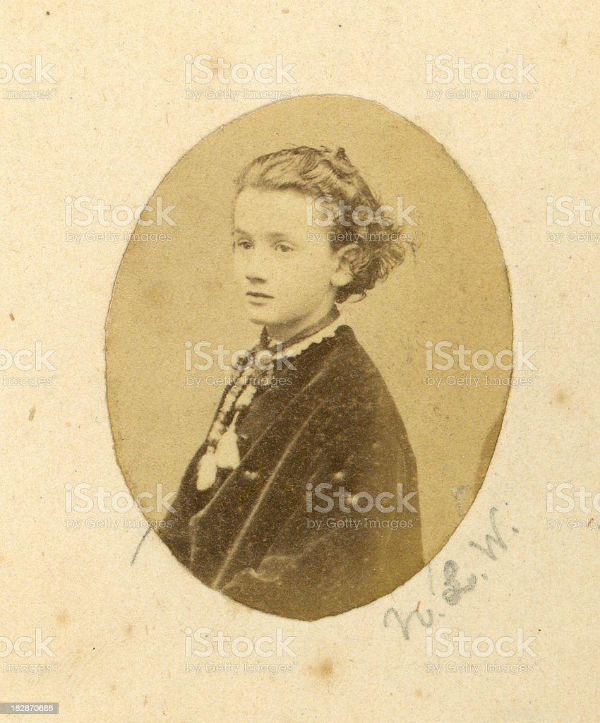 Young Victorian Girl stock photo