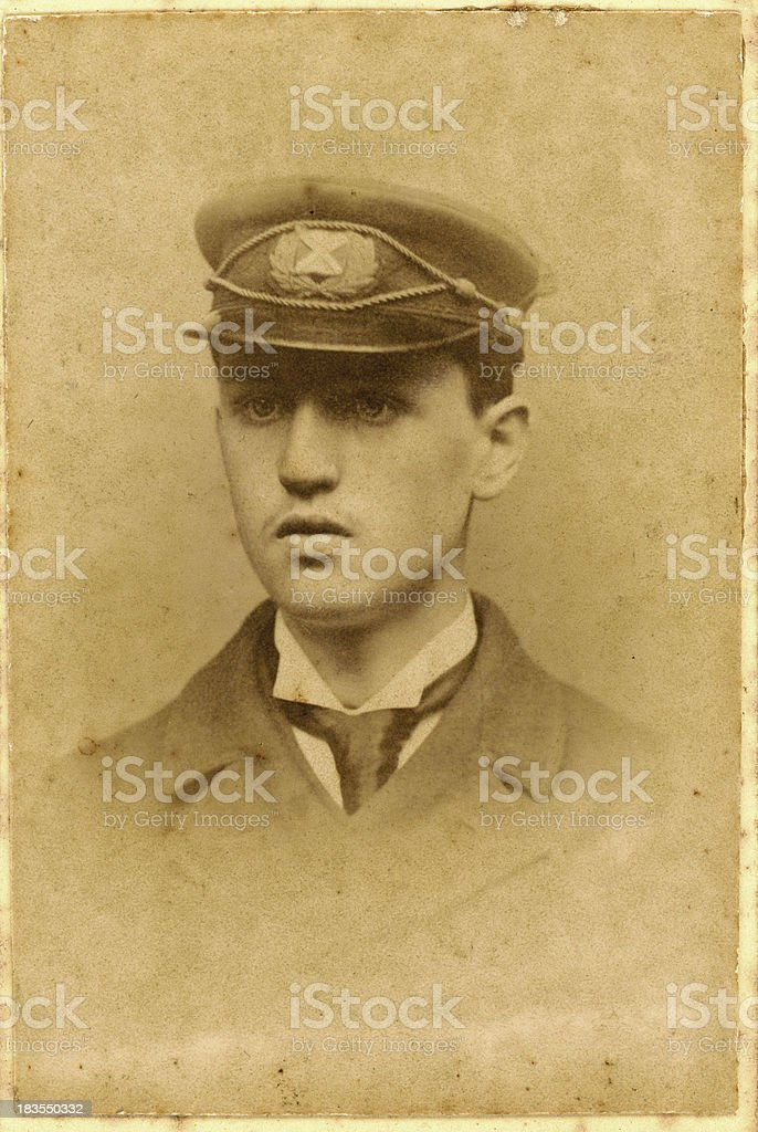 Young Victorian Man Old Photograph royalty-free stock photo