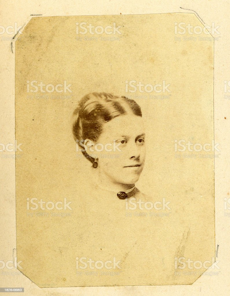 Young Victorian Woman stock photo