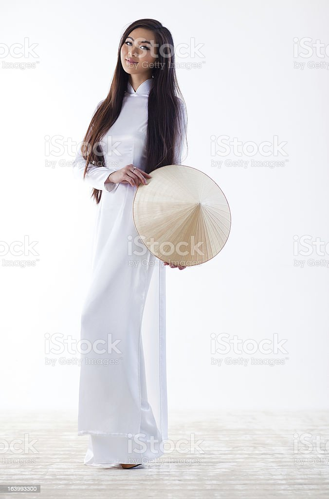 Young vietnamese woman stock photo