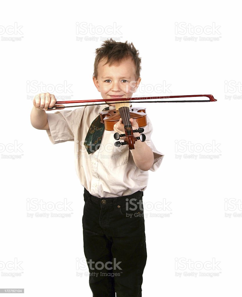 Young violinist royalty-free stock photo