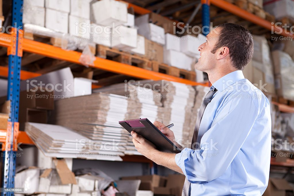 Young Warehouse Businessman royalty-free stock photo