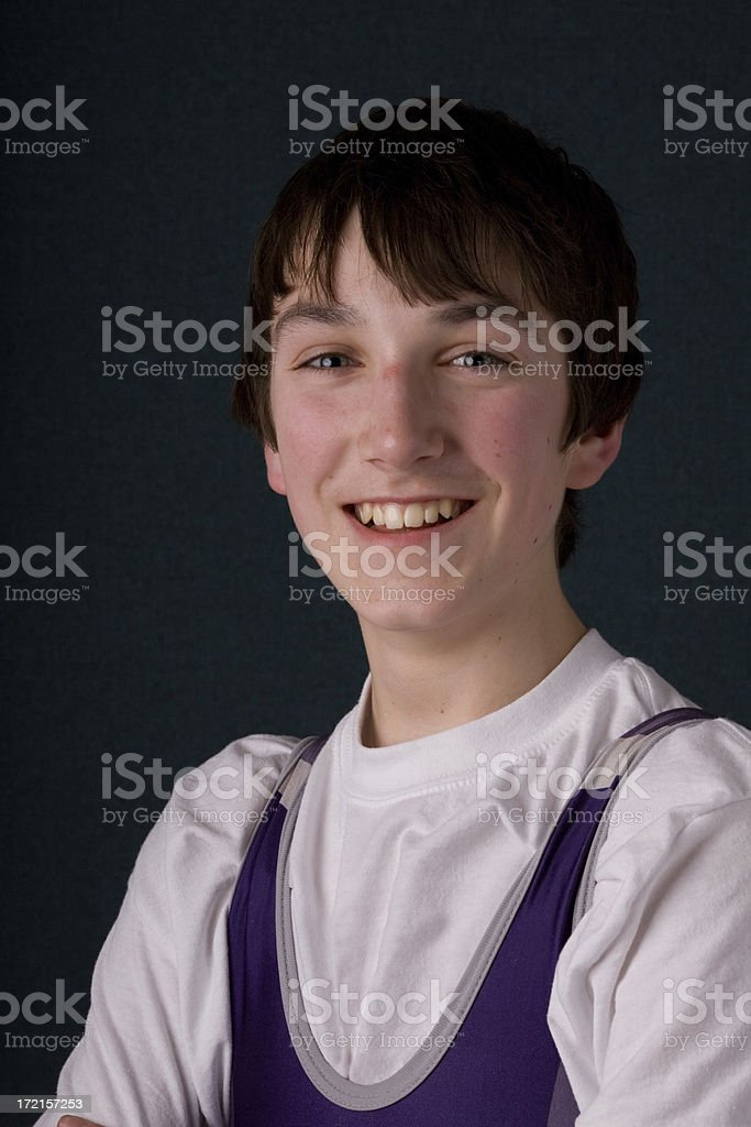 Young Weightlifter royalty-free stock photo