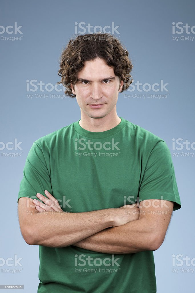 Young white male looking straight at camera royalty-free stock photo