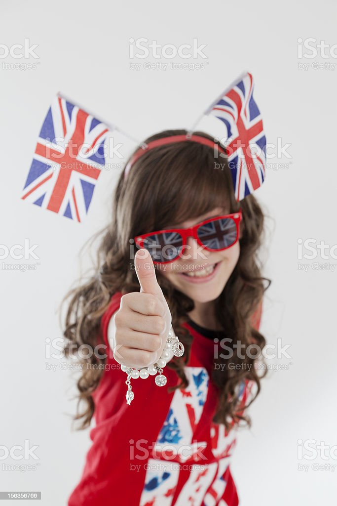 Young White Model Close up Portrait celebrating Jubilee event royalty-free stock photo