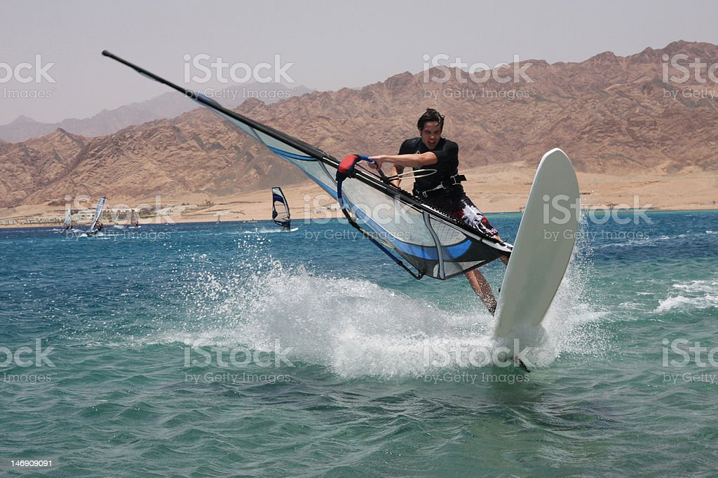 Young windsurfer. royalty-free stock photo