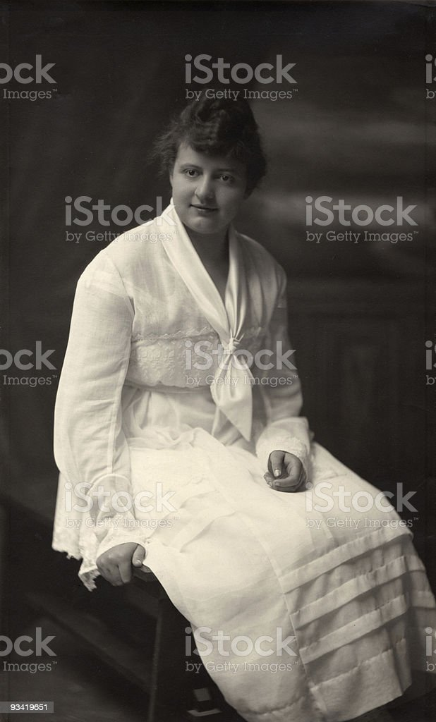 Young woman, 1914 royalty-free stock photo