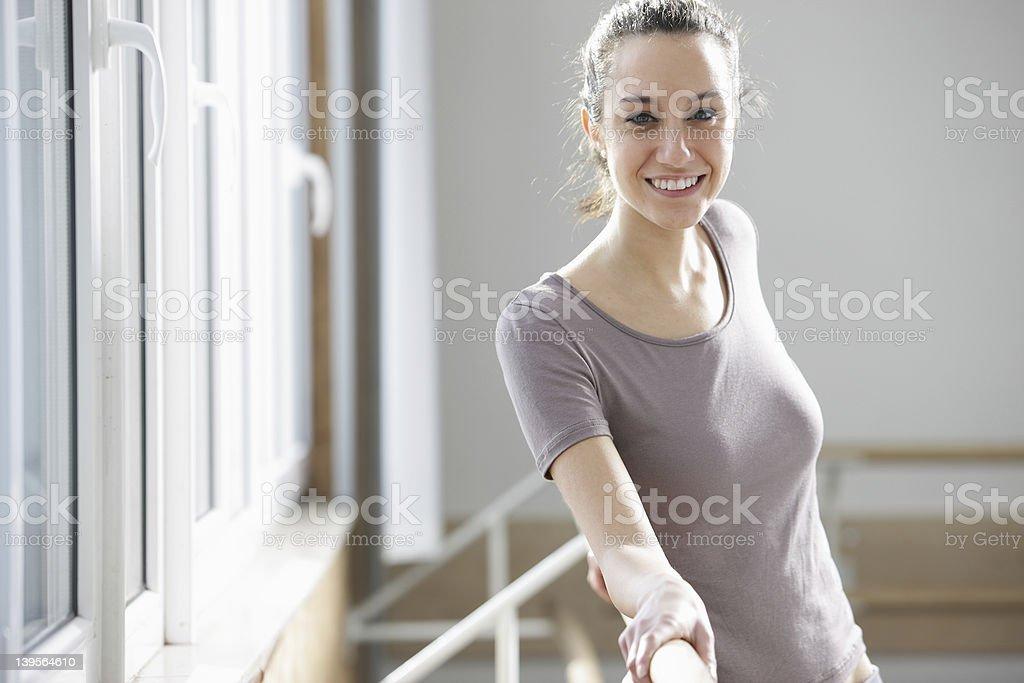 Jeune femme après l'exercice photo libre de droits