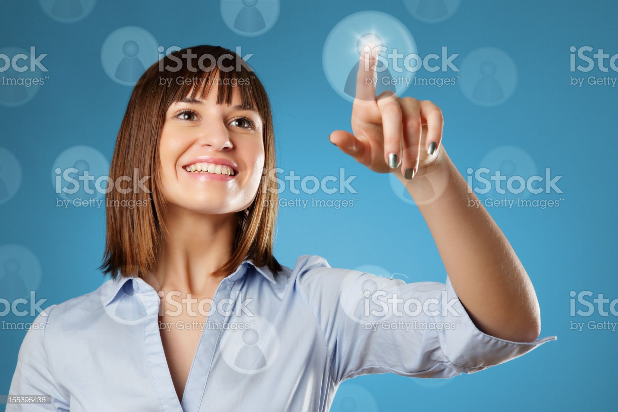 Young Woman & Social Network royalty-free stock photo