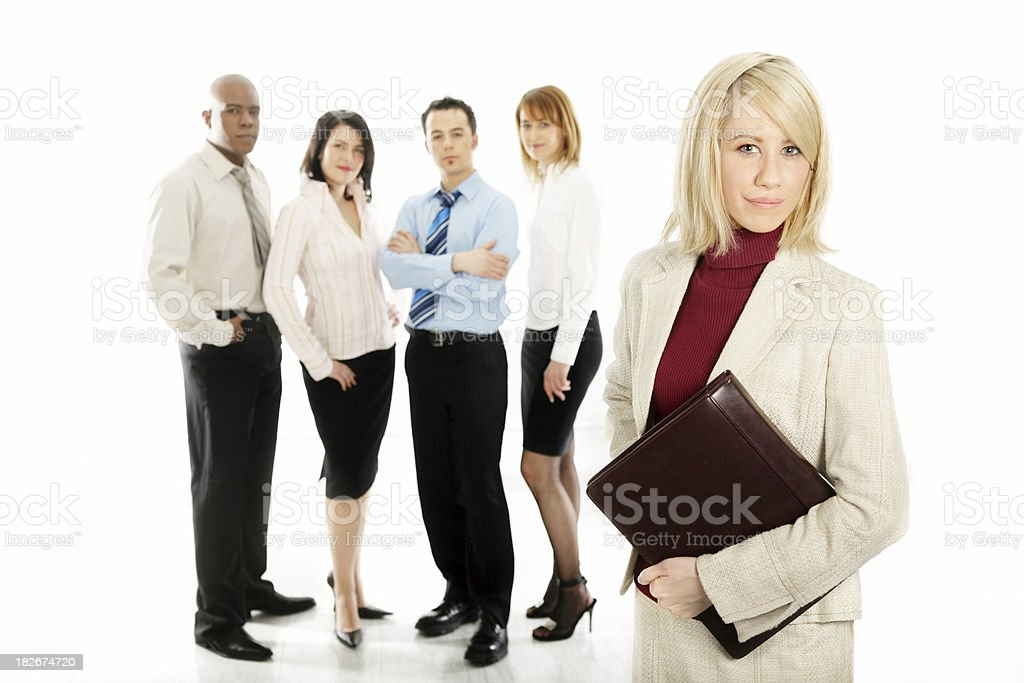 Young woman and her team royalty-free stock photo