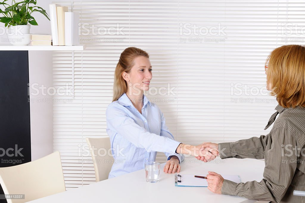 Young Woman and Psychiatrist royalty-free stock photo