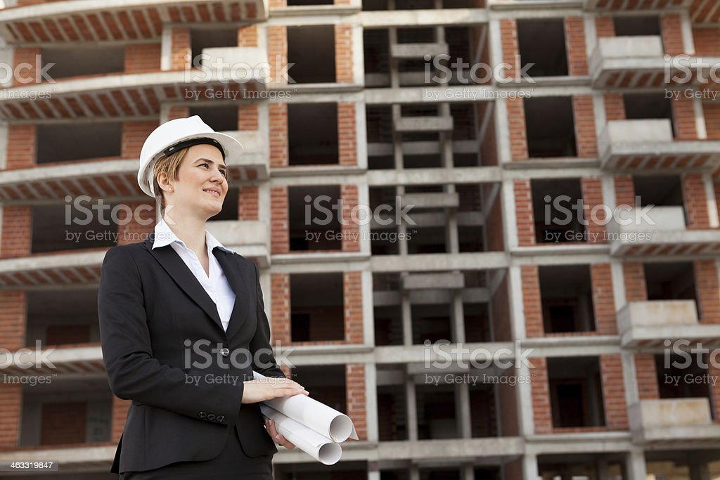 Young Woman Architect royalty-free stock photo