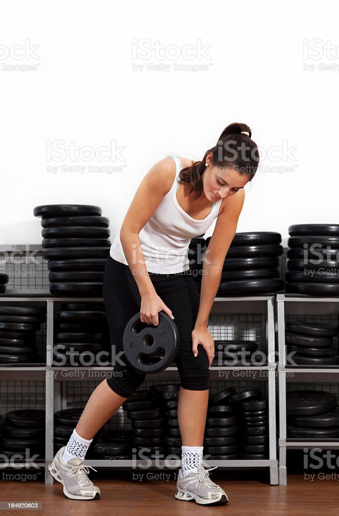 Young woman at the gym royalty-free stock photo