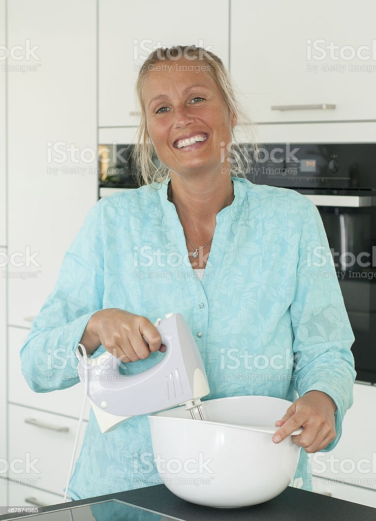 Young Woman Baking royalty-free stock photo