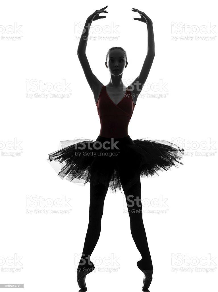 young woman ballerina ballet dancer dancing royalty-free stock photo
