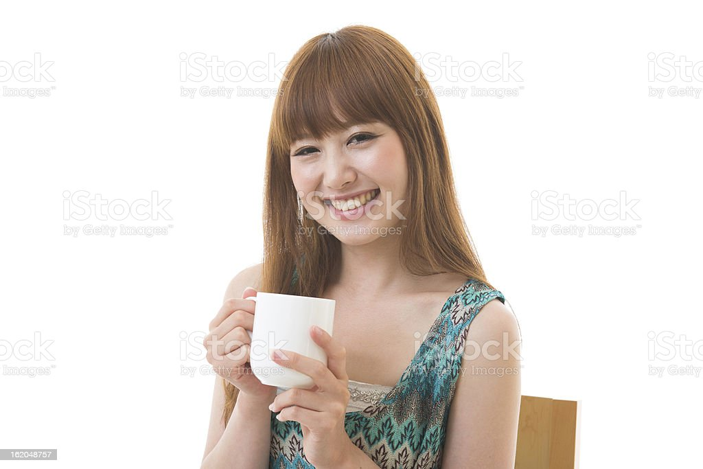 young woman break royalty-free stock photo