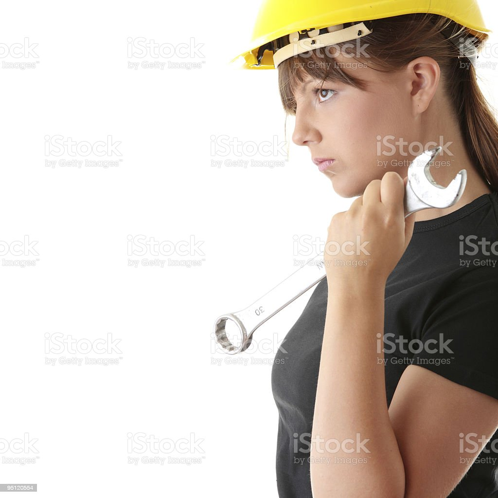 Young woman builder royalty-free stock photo
