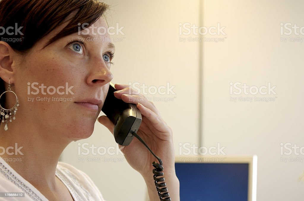 Young woman calling stock photo