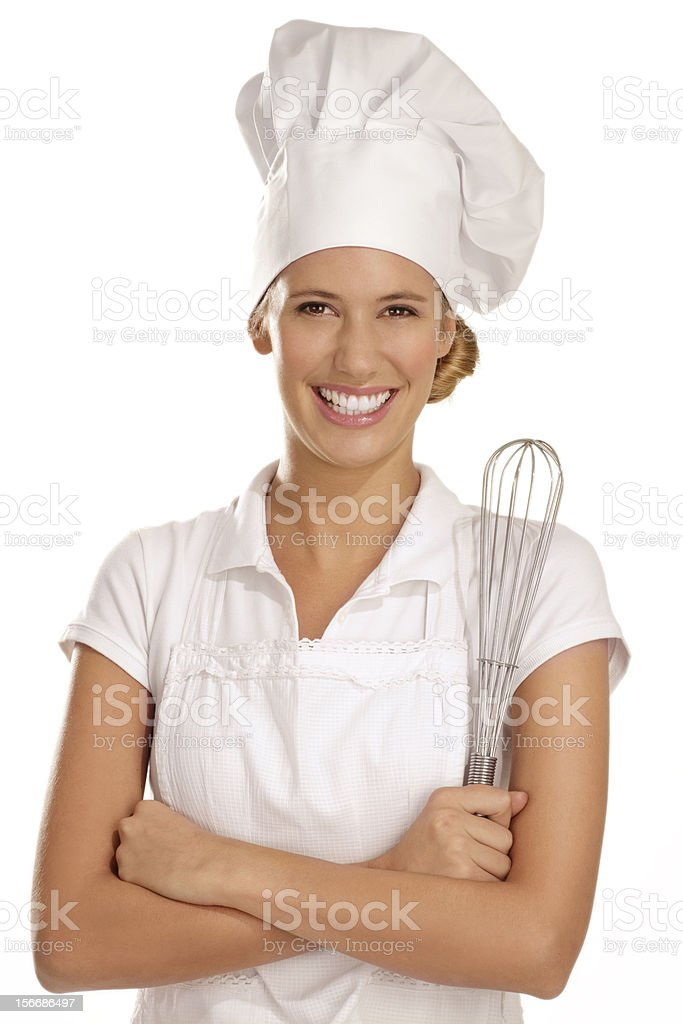 young woman chef royalty-free stock photo