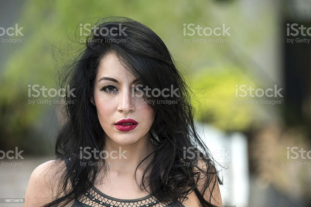 Young woman close up royalty-free stock photo