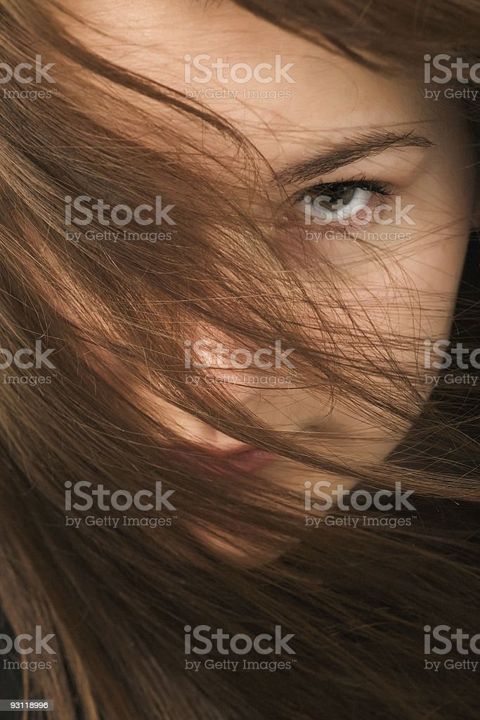 young woman close-up portrait stock photo
