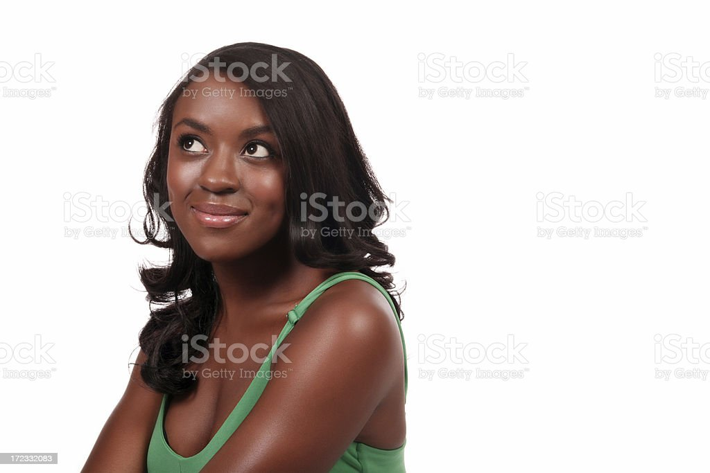 Young Woman Contemplating stock photo