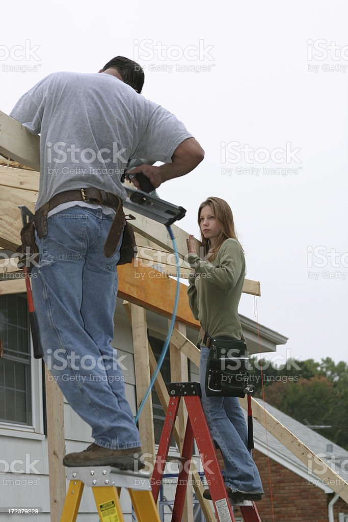 Young Woman Contractor royalty-free stock photo