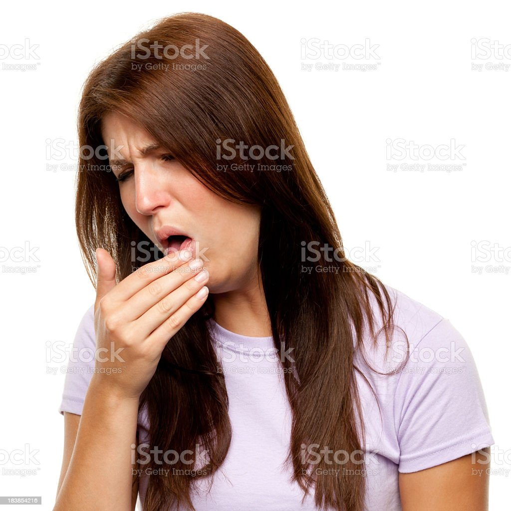 Young Woman Coughing stock photo