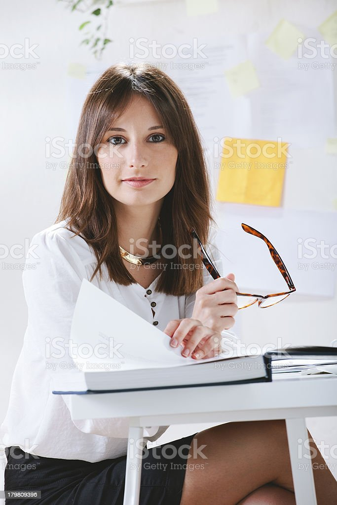 Young woman creative designer working in office. royalty-free stock photo