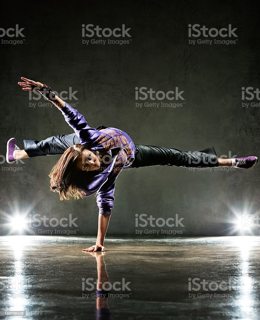 Young woman dancer royalty-free stock photo