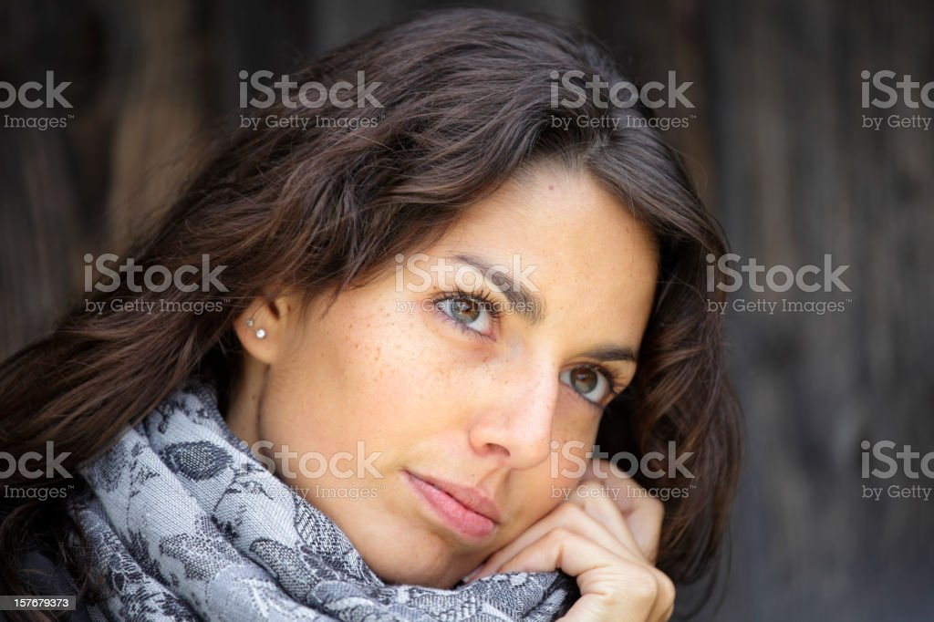 Young woman daydreaming royalty-free stock photo