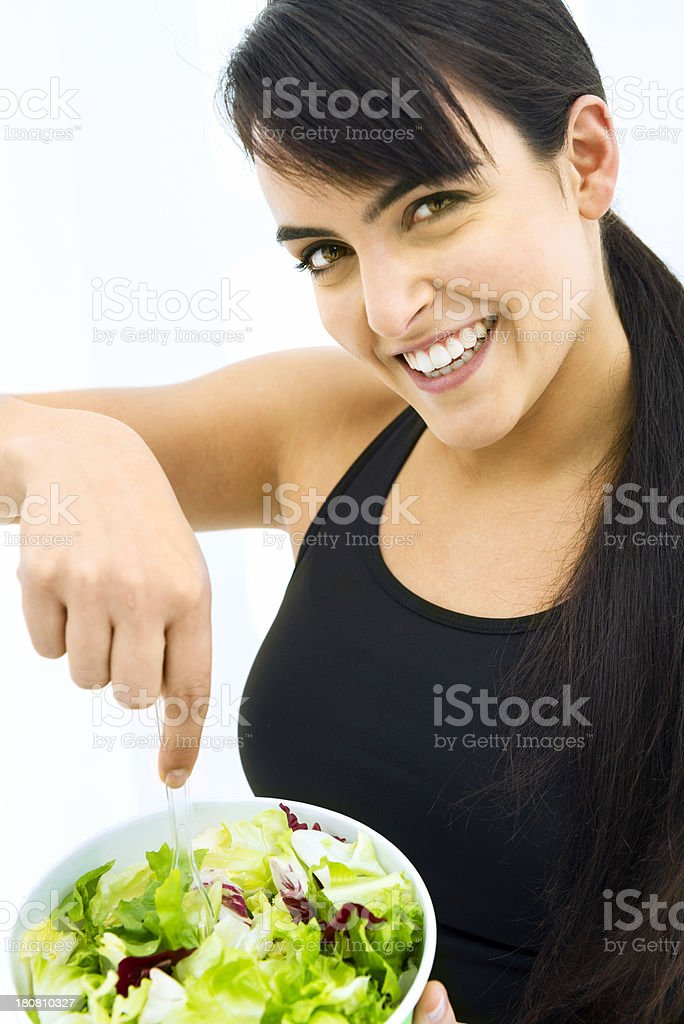 Young woman dieting royalty-free stock photo