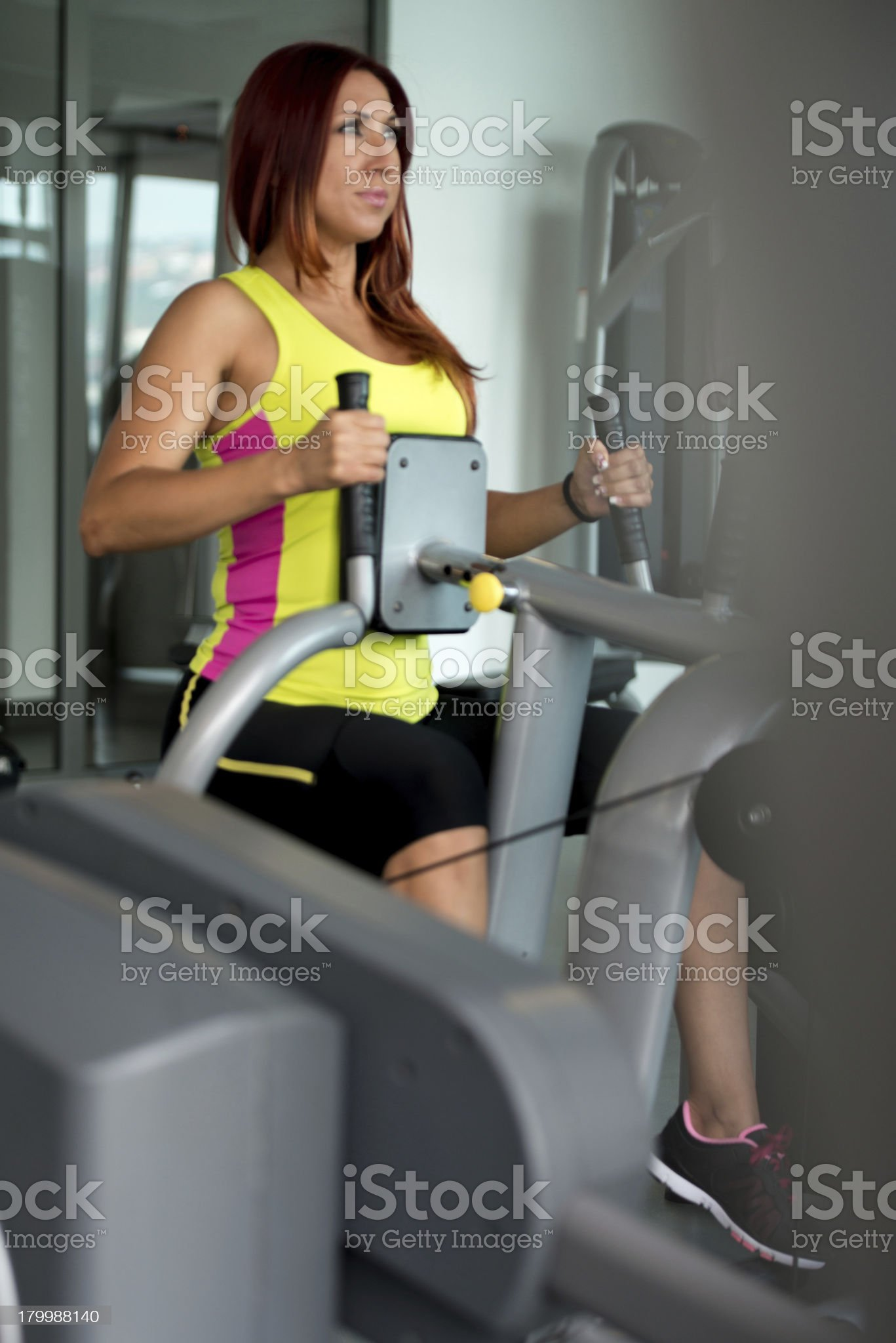 young woman doing back exercises royalty-free stock photo