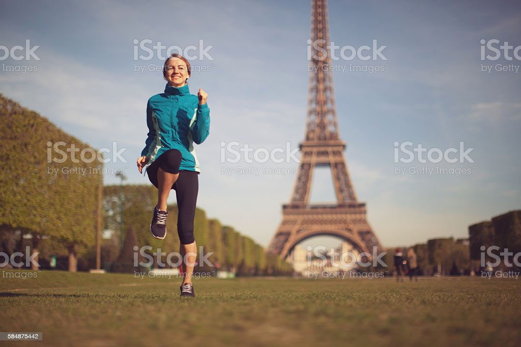 Young Woman Doing Workout stock photo