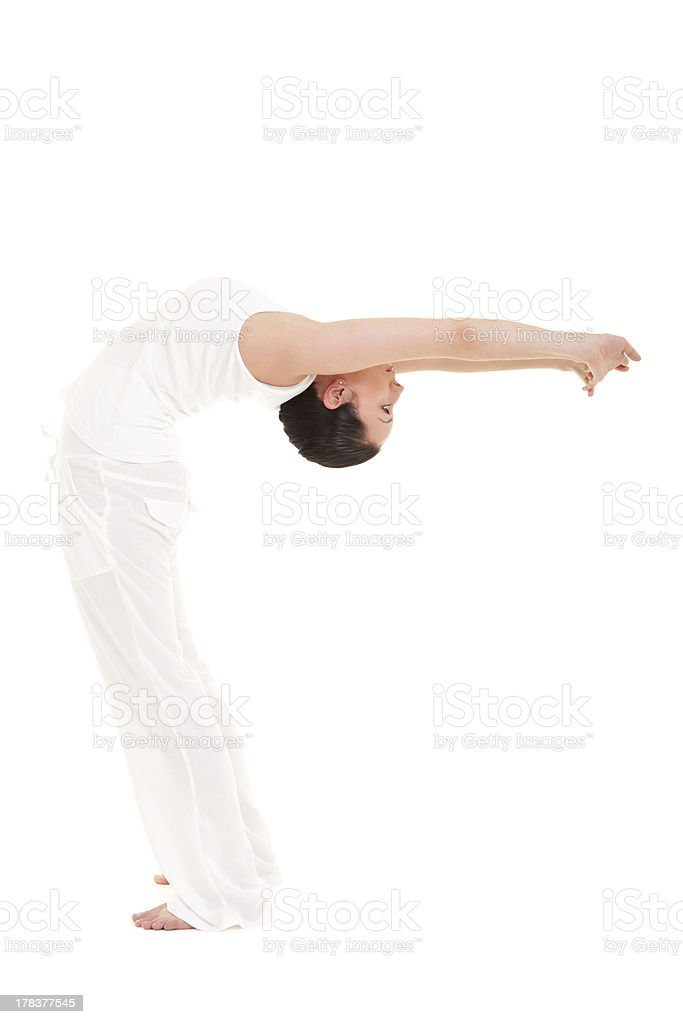 Young woman doing yoga exercise royalty-free stock photo