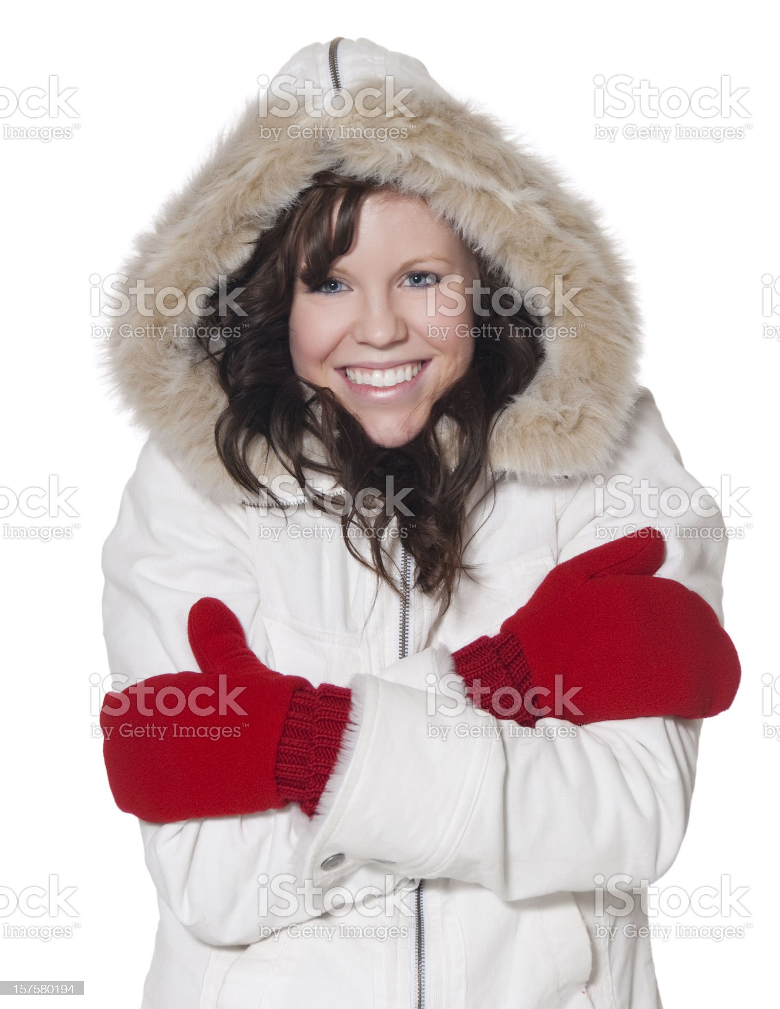 Young Woman Dressed for Winter royalty-free stock photo