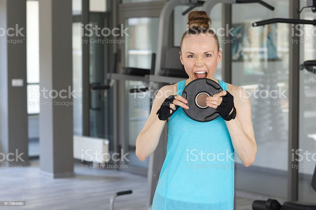 Young woman dressed in a sport uniform stock photo
