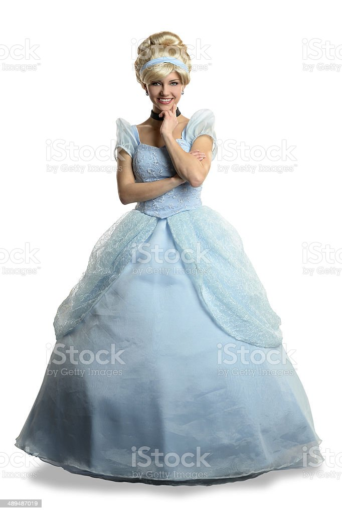 Young Woman Dressed in Princess Costume stock photo