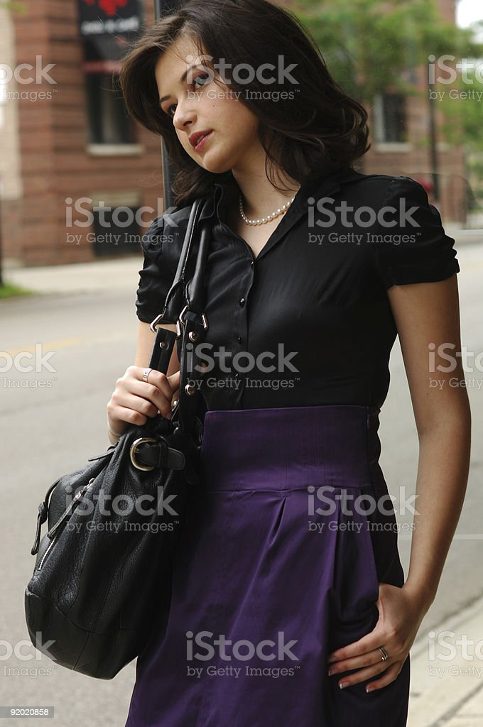 Young Woman Dressed Up royalty-free stock photo