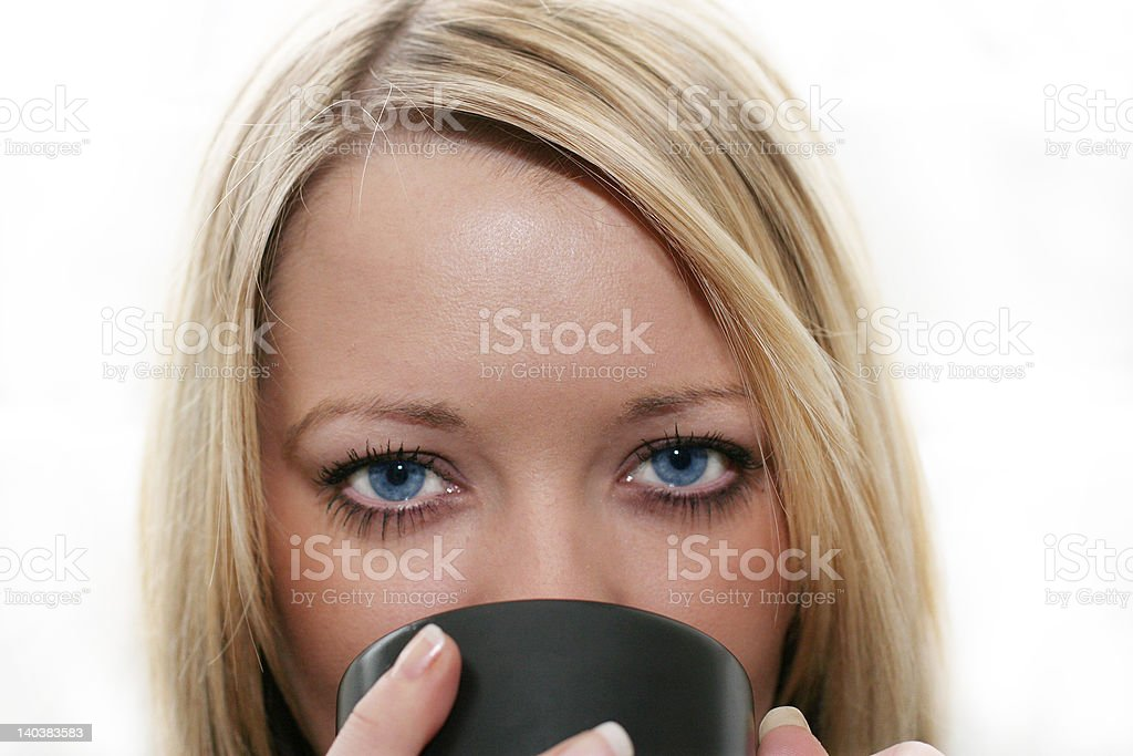 Young woman drinking royalty-free stock photo