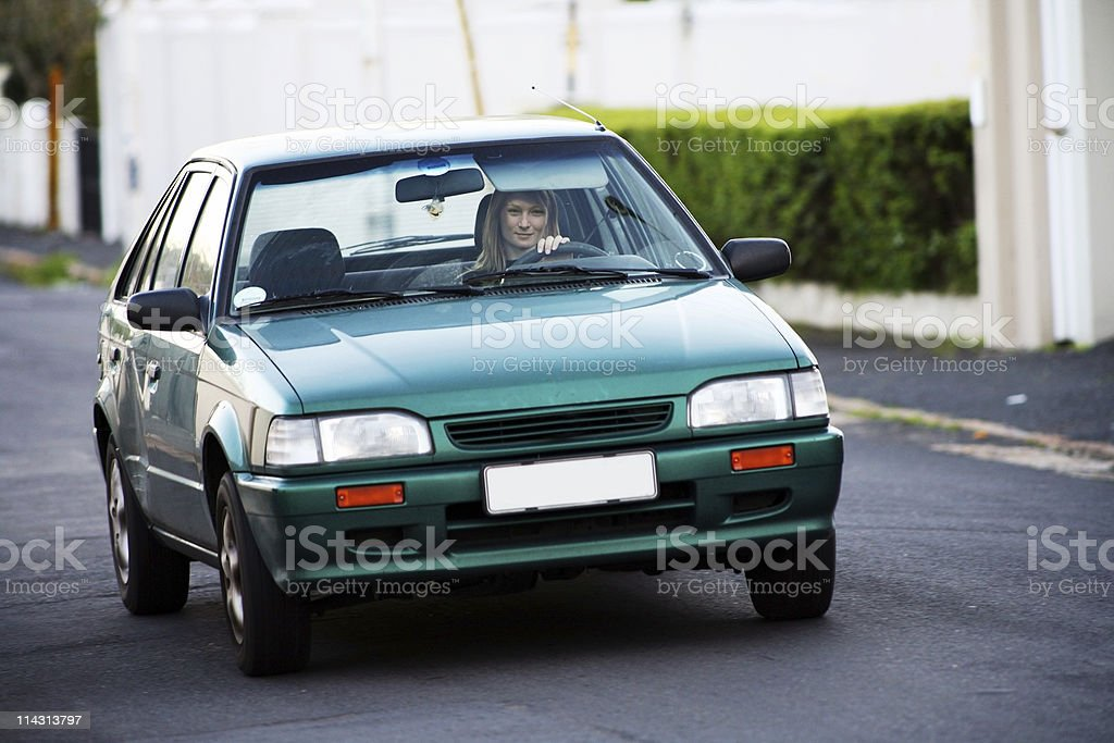 Young woman driving royalty-free stock photo