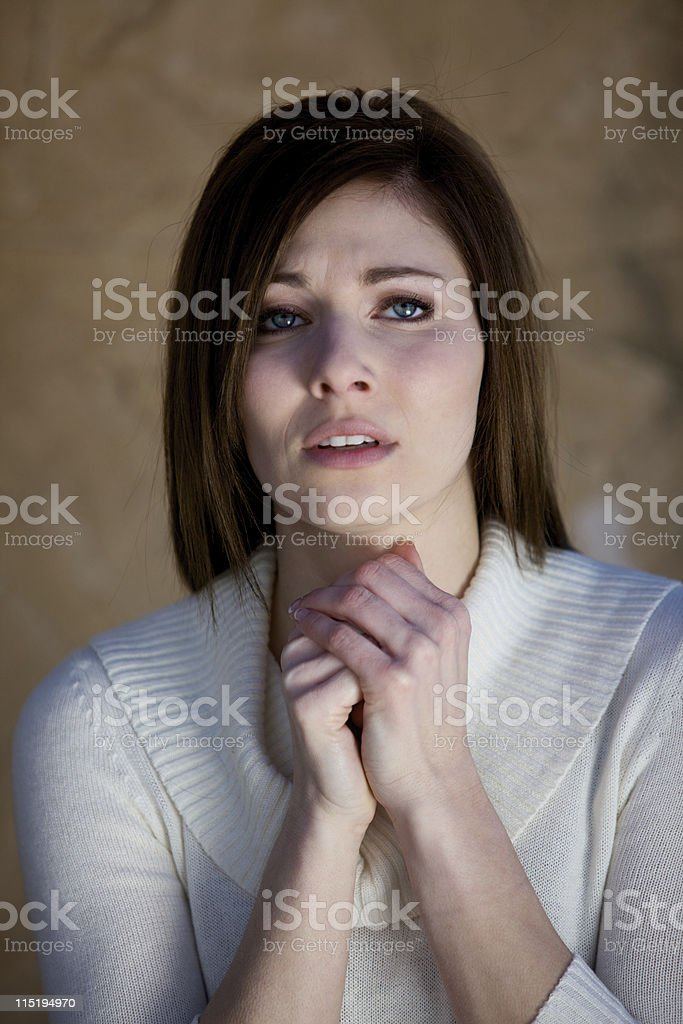 young woman emotion series royalty-free stock photo