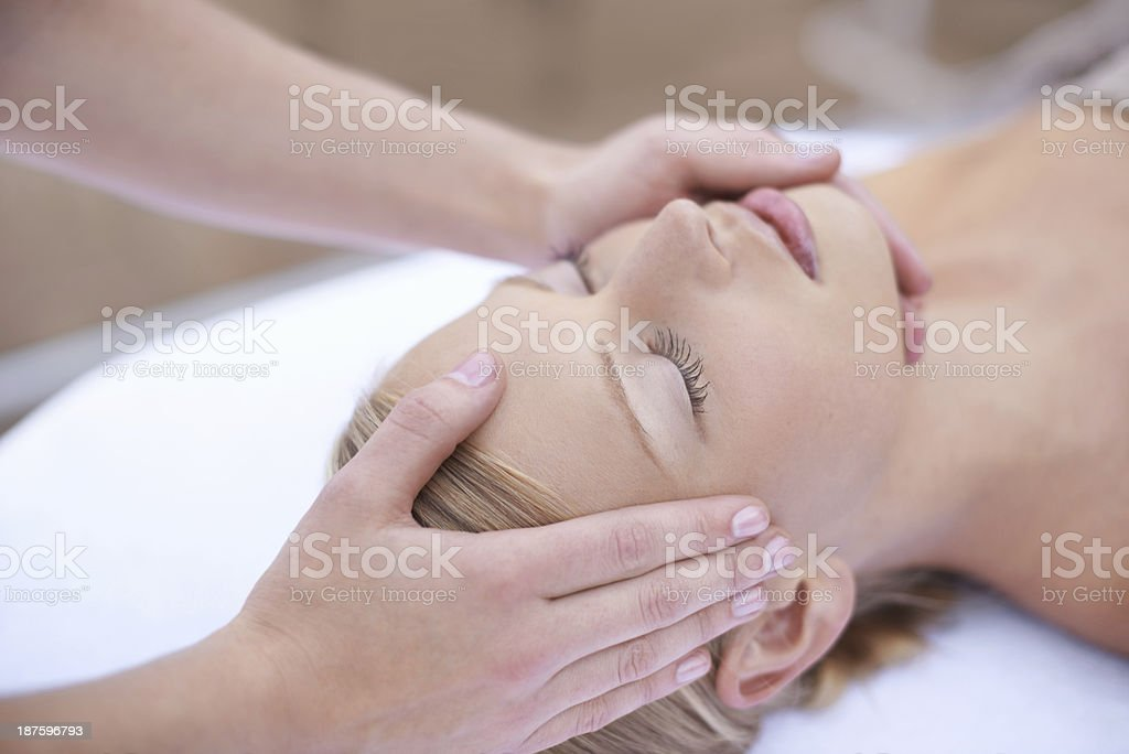 She's got the magic touch royalty-free stock photo