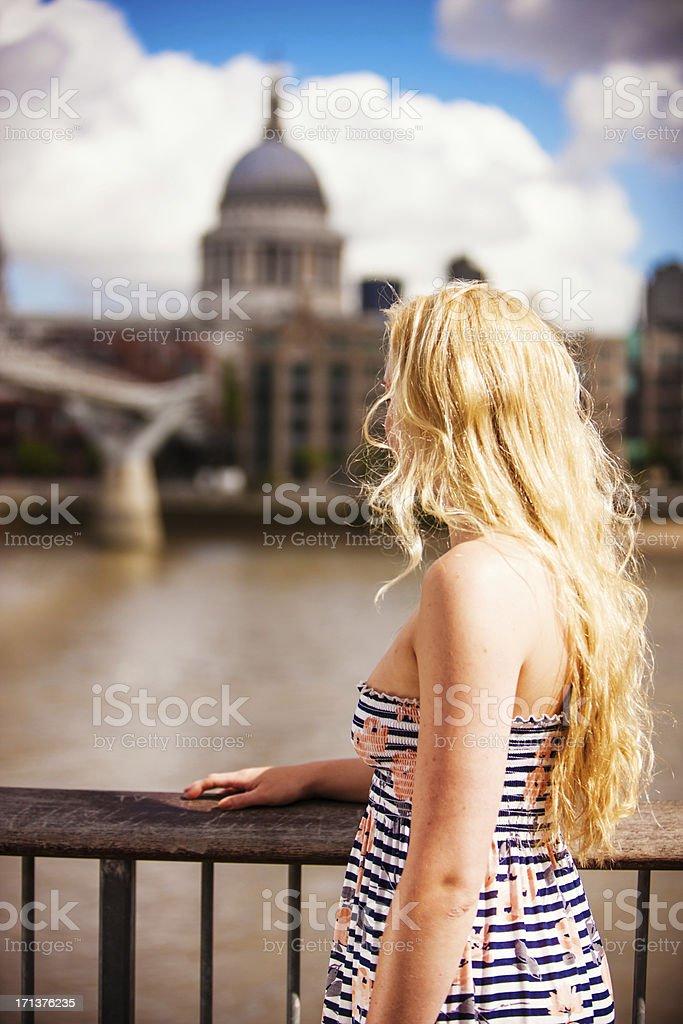 Young Woman enjoying Summer in London, UK
