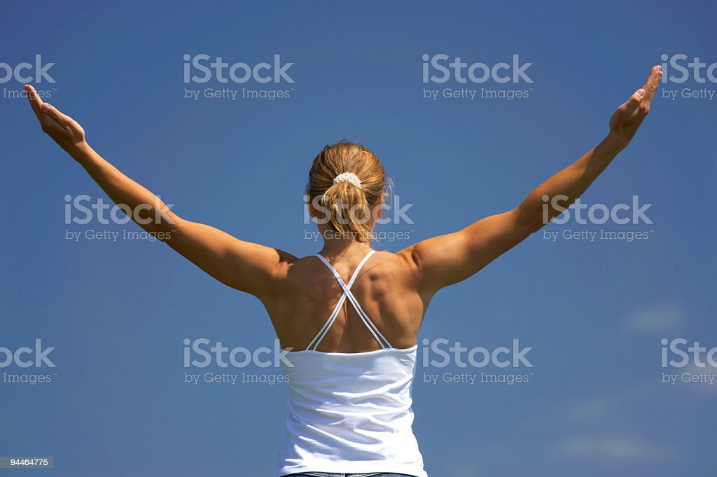 young woman exercising 3 royalty-free stock photo